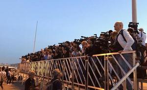 730 periodistas de 180 medios esperan a la flotilla del Aquarius en el puerto de Valencia
