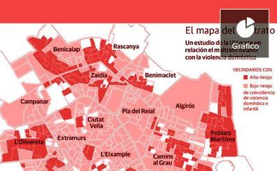 El mapa de la violencia en Valencia