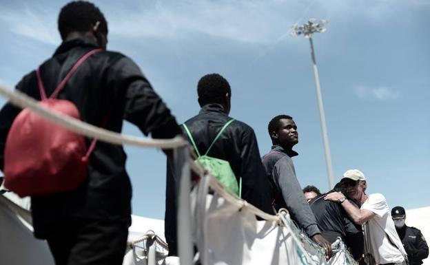 Veinte inmigrantes del 'Aquarius' se trasladarán en los próximos días a Guipúzcoa