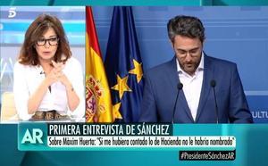 Ana Rosa estalla contra Pedro Sánchez: «Fue muy duro con Max»