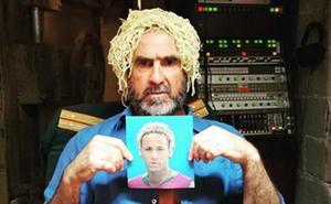 Éric Cantona se burla de 'espagueti' Neymar
