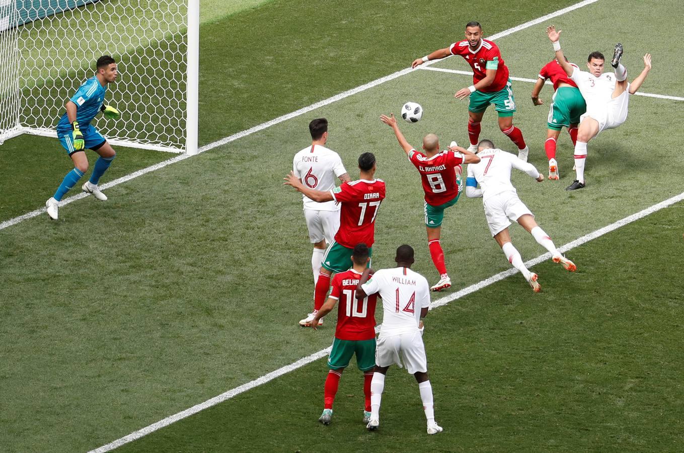 Portugal-Marruecos, en imágenes
