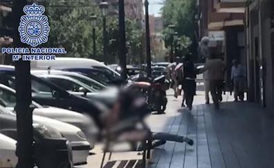 Persecución policial en plena calle en Valencia a una banda de ladrones de casas de lujo de empresarios