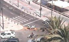 Empiezan los cortes de tráfico en la Malvarrosa por la noche de San Juan