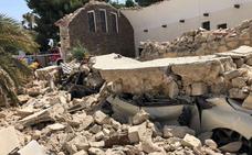 Una iglesia de El Campello se derrumba tras acabar una misa