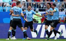 Directo: Uruguay, por delante en el marcador y contra diez