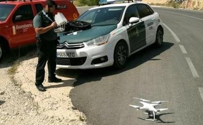Un dron ayuda a rescatar a cinco senderistas de entre 70 y 80 años