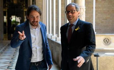 Iglesias avisa a Torra que la negativa de Sánchez al referéndum no debe impedir el diálogo