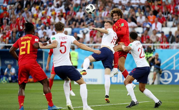 Inglaterra-Bélgica, en imágenes
