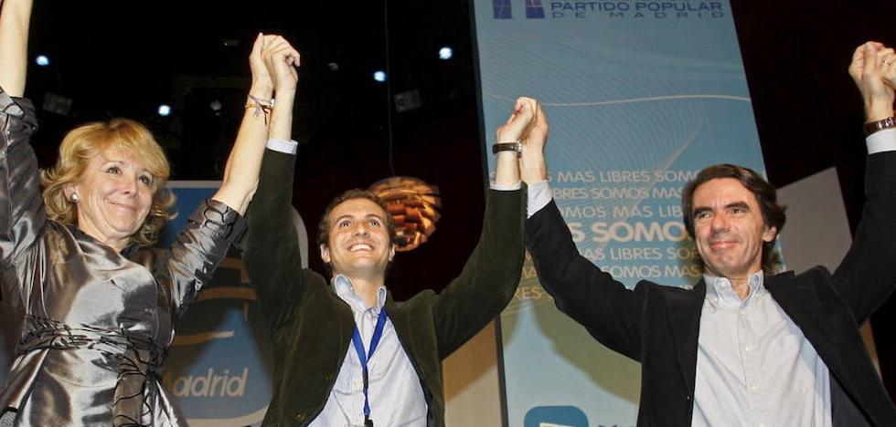 Aznar 'entra' en la campaña del PP: Cospedal señala a Casado como su candidato