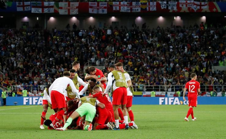 Colombia-Inglaterra, en imágenes
