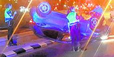 Un conductor ebrio se estrella en Valencia