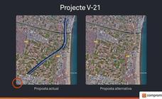 Compromís pide separar y soterrar el flujo de entrada a Valencia por la V-21