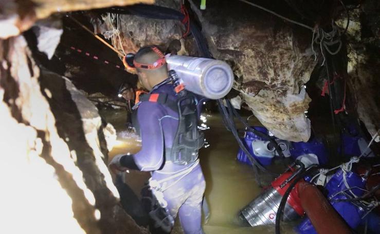Así es el rescate de los niños en la cueva de Tailandia