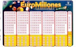 Un acertante de Euromillones gana 65 millones en el sorteo del martes