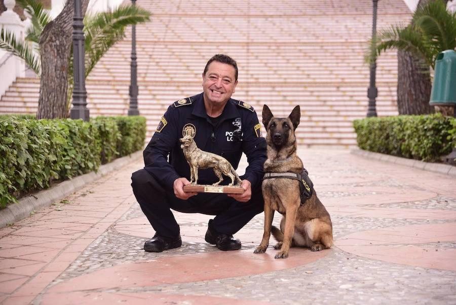La unidad canina de la Policía de Villarreal ayuda a detectar cáncer de próstata con su olfato