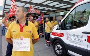 Suspenden de forma cautelar la huelga de ambulancias al llegar a un preacuerdo
