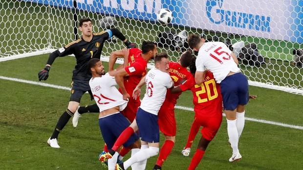 Alineación de Inglaterra y Bélgica en el partido por el tercer y cuarto puesto