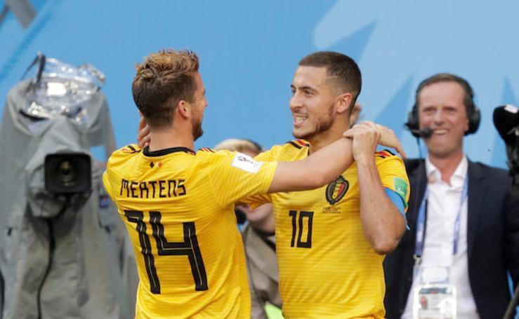 Bélgica-Inglaterra, en imágenes