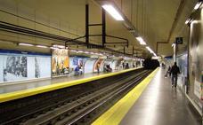 Detenido un hombre por matar a otro tras empujarle a las vías del metro de Madrid