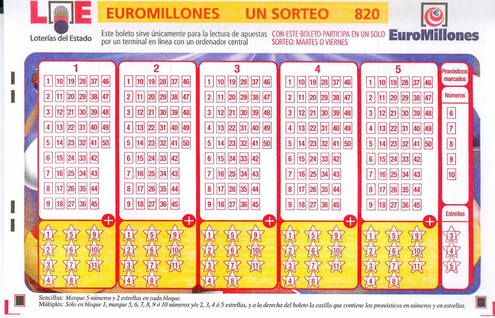 Comprobar el Euromillones del martes 11 de septiembre