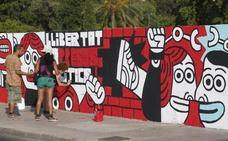 El Ayuntamiento cede el muro de Jesuitas para el mural contra el fallo de Alsasua