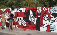 Ribó tilda de «serpiente de verano» la polémica sobre el mural en apoyo a los condenados de Alsasua