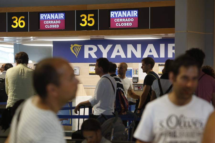 La huelga de Ryanair en el aeropuerto de Valencia