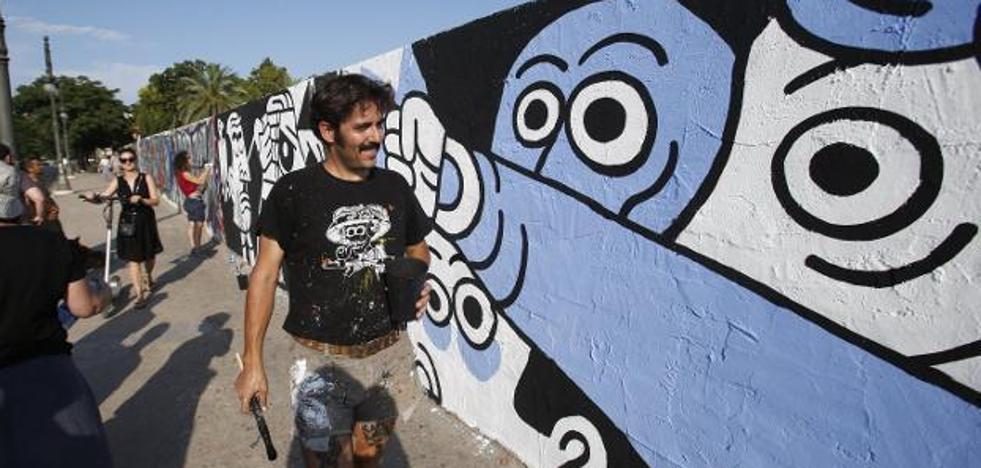 El autor del polémico mural de Jesuitas es ilustrador electoral de Compromís