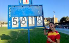Claudia Conte, récord sub-20 en heptalón