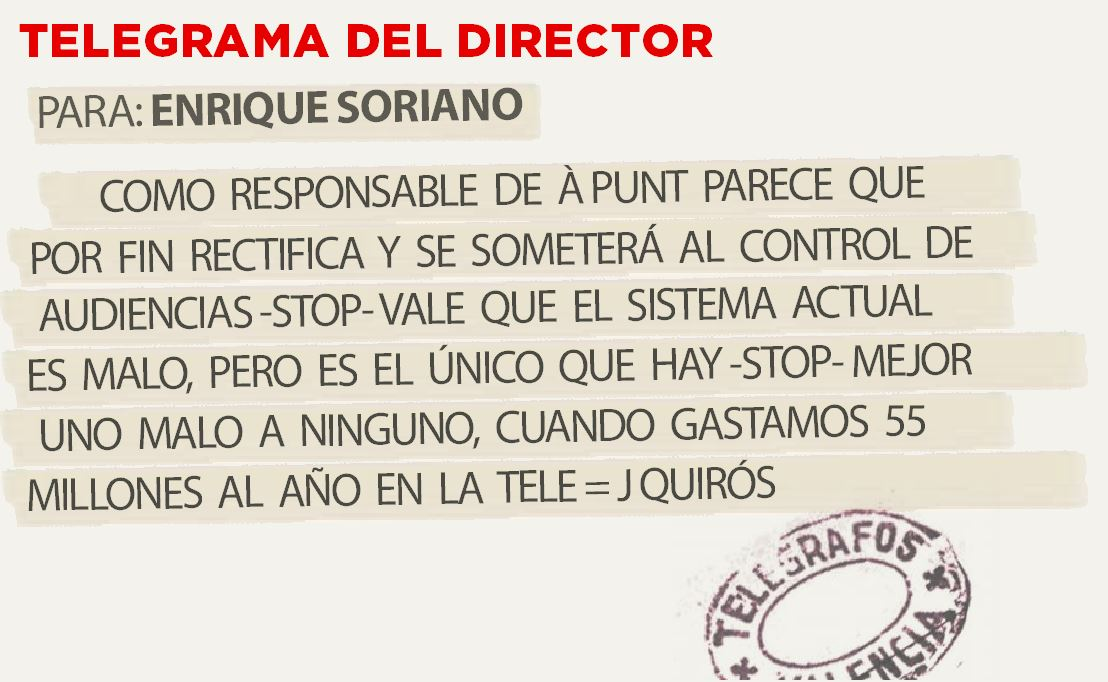 Telegrama para Enrique Soriano