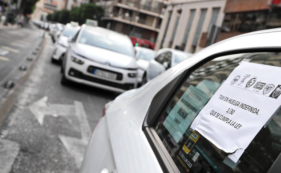 Huelga de los taxistas en Valencia - 1 de agosto