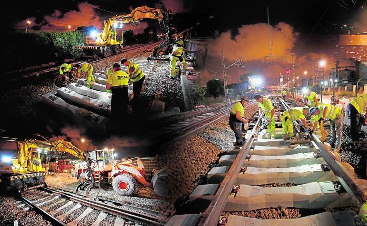 Viaje a las obras del tercer carril del corredor entre Valencia y Sagunto