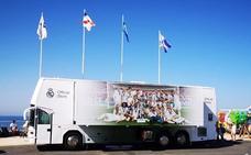 El polémico autobús del Real Madrid vuelve a la Comunitat Valenciana