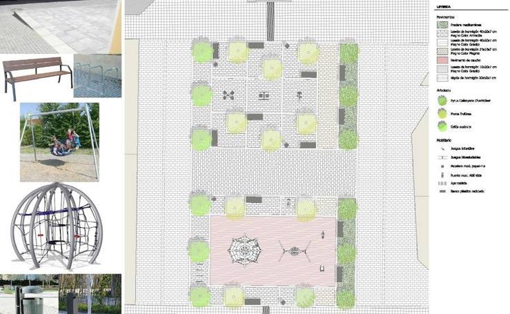 Comienzan las obras para peatonalizar y ajardinar la plaza Rojas Clemente