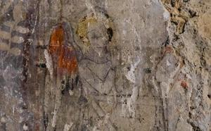 La restauración de la iglesia de Pobla de Vallbona desvela unas pinturas del siglo XIV