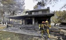 Así han quedado las casas, tras el incendio de Llutxent