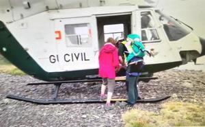 Rescatan en el Moncayo a una mujer de 63 años que se cayó al hacer una foto