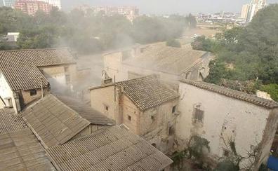 Se desploma una de las casas de la alquería del Moro