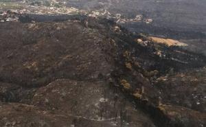 El incendio de Llutxent afecta a zonas de especial protección para las aves