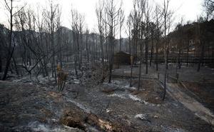 El paraje natural arrasado por las llamas carece de plan de protección desde 2006