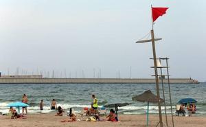 La bandera roja se impone en las playas de Valencia