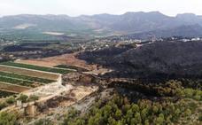 Llutxent pide al Gobierno ayudas de emergencia para la zona arrasada por el incendio