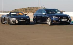 Audi R8 y RS4: El garaje de los sueños