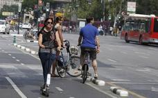 Los patinetes eléctricos podrán circular en Valencia por el carril bici, por la calzada y por zonas peatonales