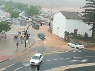 Una tormenta de verano inunda Dénia en pleno mes de agosto