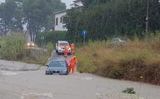 Fuertes tormentas anegan La Marina con hasta 130 litros en Xàbia y Dénia