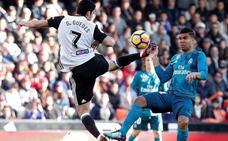El Valencia CF deja libre el dorsal 7 de Guedes