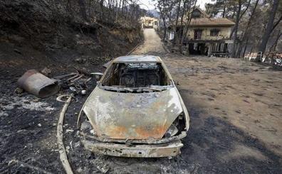 El Consell recibe 750.000 € para las zonas afectadas por incendio de Llutxent