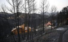 Riesgo elevado de incendio forestal en el centro y sur de la Comunitat